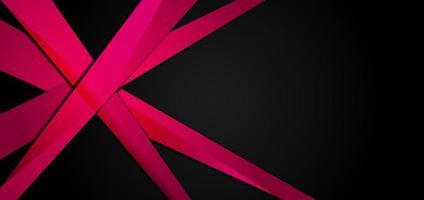 diseño de plantilla abstracta con elementos rosas y negros