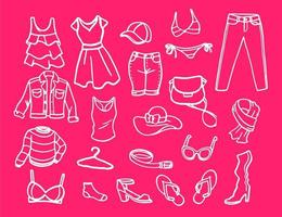 Set of fashion elements for women