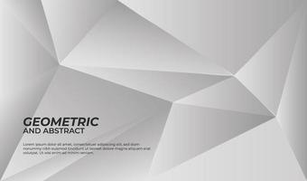 Grey and white geometric background