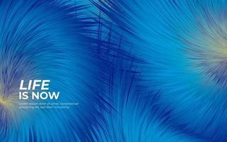 Fluffy fur blue background vector