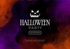 banner em aquarela para festa de halloween