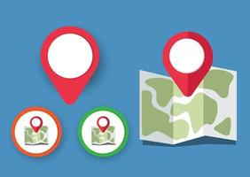 Map icons with pointer