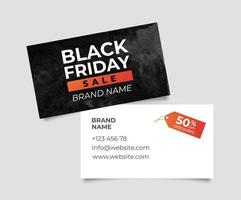 Business card for Black Friday