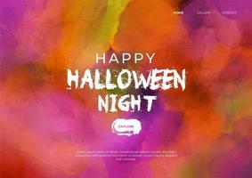 página inicial do halloween em aquarela