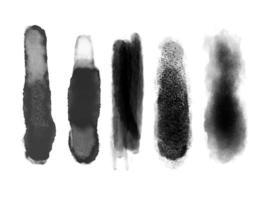 conjunto de pinceladas en negro