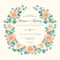 Blush Roses Save the Date Wreath vector