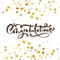 Congratulations hand written lettering for greeting card