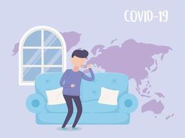 Man with Covid-19 symptoms