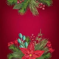 Merry Christmas invitation greeting card background