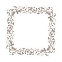Vintage calligraphic vector wedding frame wreath with place for text