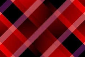 Gradient red and black diagonal lines plaid pattern vector