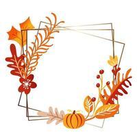 Square autumn bouquet frame