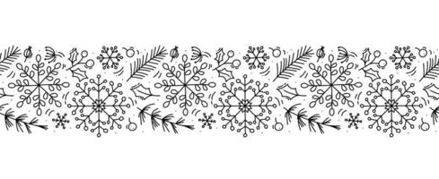 navidad monoline escandinavo de patrones sin fisuras