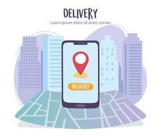banner modelo de serviço de entrega online