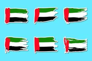conjunto de pegatinas de la bandera del día nacional de los emiratos árabes unidos
