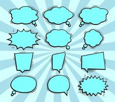 colección de burbujas de discurso de cómic pop art vector