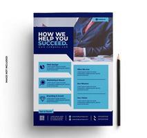 flyer design layout corporativo em tamanho A4