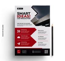diseño de volante de folleto de empresa comercial