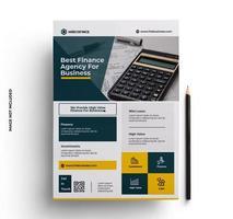 modelo de cartaz de folheto de empresa moderno