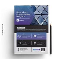 modelo de design de folheto em tamanho A4