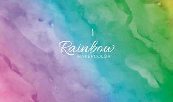 arco-íris de fundo em aquarela