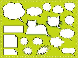 conjunto de globos de diálogo