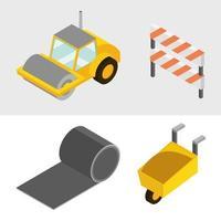 Isometric construction icon set