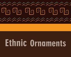 banner de fundo de ornamento étnico