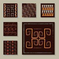 conjunto de azulejos de fondo de adorno étnico