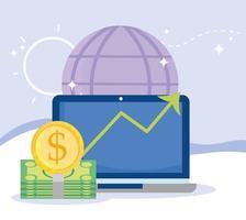composição de pagamento e comércio eletrônico online