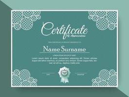 certificado verde moderno