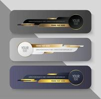 Lower third banner in circular and geometric shapes vector