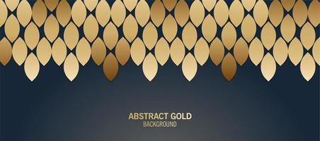 Elegant blue and gold abstract pattern vector