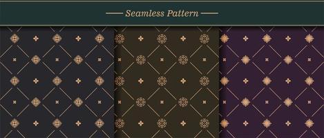 conjunto de padrão de textura perfeita elegante