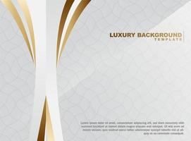 Abstract wave background with gold and white elements vector