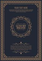 Luxury greeting card, vintage ornament template vector
