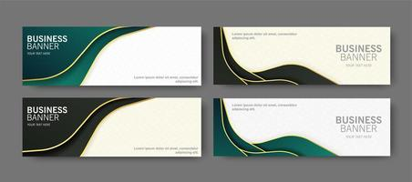 Luxury business banners with waves