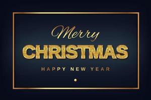 diseño de tipografía de brillo dorado feliz navidad