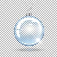 adorno de bola de navidad transparente vector