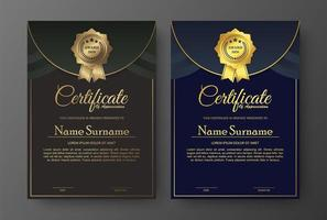 Brown and blue certificate template designs