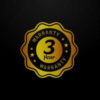 Three year warranty vector