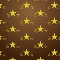 Seamless star pattern brown gradient