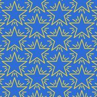 Seamless star pattern on blue
