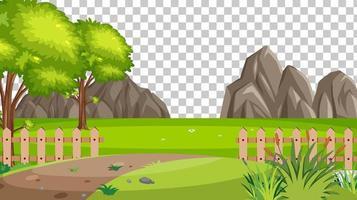 paisaje de escena de parque de naturaleza en blanco vector