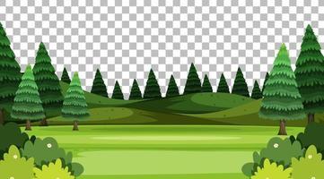 paisaje de escena de parque de naturaleza en blanco