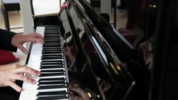 Hands of pianist video