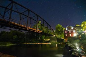 View of War Eagle Mill and bridge in Arkansas photo