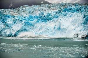 Hubbard Glacier while melting in Alaska