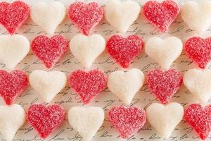 Valentines Day Gummy Love Heart Candy Dessert Food photo