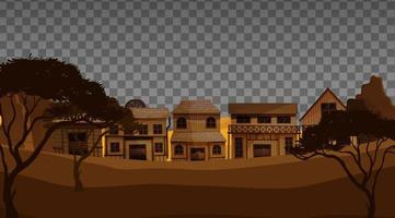 Old town village vector